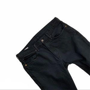 LEVI'S men's black 521 jeans size 34/32